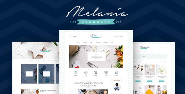 Wordpress Blog Template Melania | Handmade Blog & Crafts Shop Aristic WordPress Theme