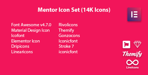 Wordpress Add-On Plugin Mentor Icon Set - Icon Pack Addon For Elementor Page Builder