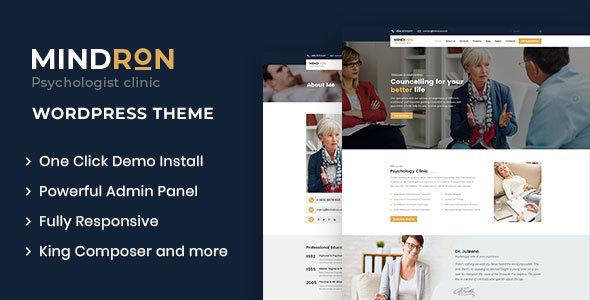 Wordpress Immobilien Template Mindron - Psychology & Counseling WordPress Theme