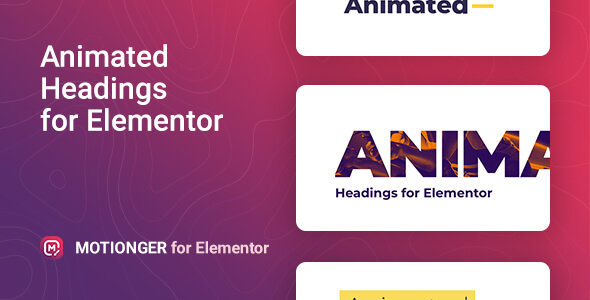 Wordpress Add-On Plugin Motionger – Animated Heading for Elementor