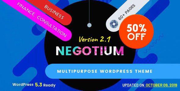 Wordpress Immobilien Template Negotium - Multipurpose Business WordPress Template