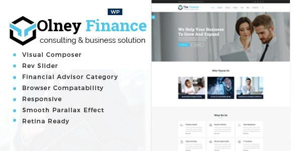Wordpress Immobilien Template Olney Finance -Business Consulting WordPress Theme