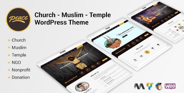 Frieden - Kirche / Muslime / Tempel WordPress Theme