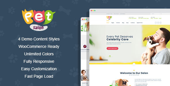Wordpress Immobilien Template PetSpace - Animal Care & Grooming WordPress Theme
