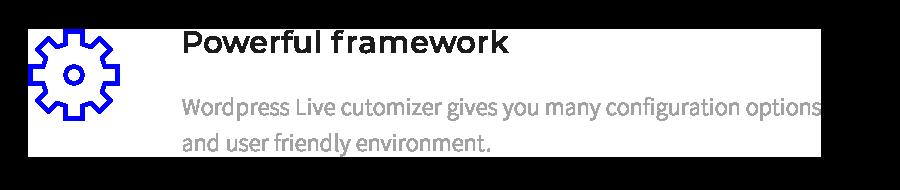 Leistungsstarker Rahmen