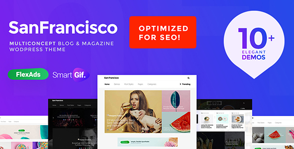 Wordpress Blog Template SanFrancisco - MultiConcept Blog & Magazine WordPress Theme