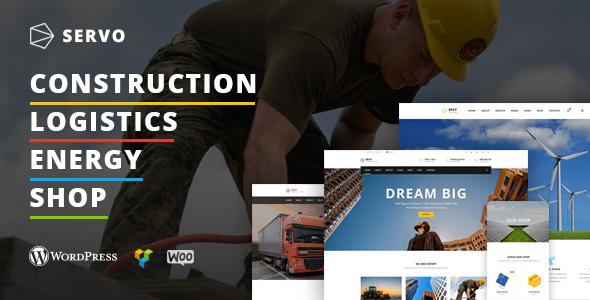 Wordpress Immobilien Template Servo - Construction / Logistics / Energy Engineering / Shop theme