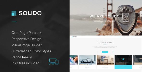 Wordpress Kreativ Template Solido - Responsive One Page Multi-Purpose Theme