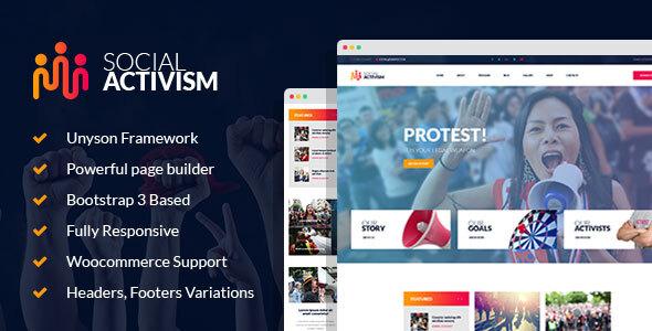 Wordpress Immobilien Template Social Activism - Non-Government Organization WordPress Theme