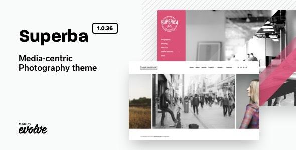 Wordpress Kreativ Template Superba: Media-centric Photography WordPress Theme