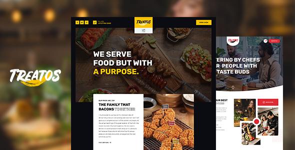 Wordpress Entertainment Template Treatos - Authentic Restaurant Theme