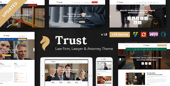 Wordpress Immobilien Template Trust Business - Lawyer and Attorney WordPress Theme