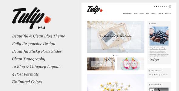 Wordpress Blog Template Tulip - Responsive WordPress Blog Theme
