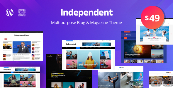 Wordpress Blog Template Independent - Multipurpose Blog & Magazine Theme