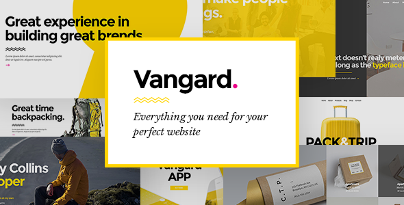 Wordpress Kreativ Template Vangard - A Theme for Freelancers and Agencies