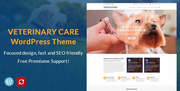 Wordpress Immobilien Template VetBox - Veterinary & Pet Care WordPress Theme