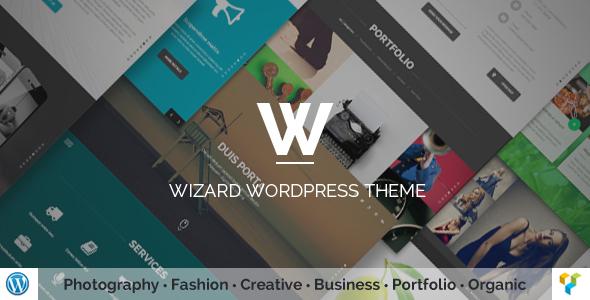 Wordpress Kreativ Template Wizard - Fullpage Portfolio WordPress Theme