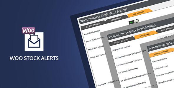 Wordpress E-Commerce Plugin Woo Stock Alert Plugin for WooCommerce Stores and Shops