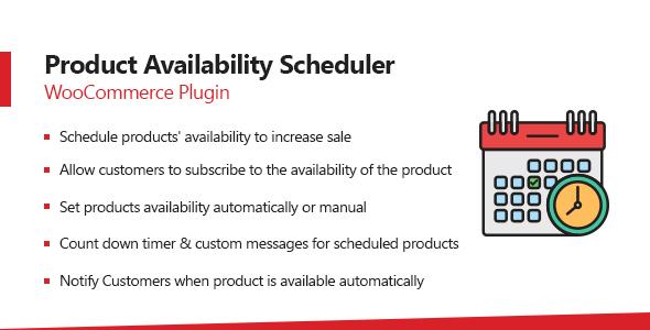 Wordpress E-Commerce Plugin WooCommerce Product Availability Scheduler Plugin