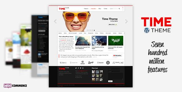 Wordpress Corporate Template Time - Responsive WordPress Theme