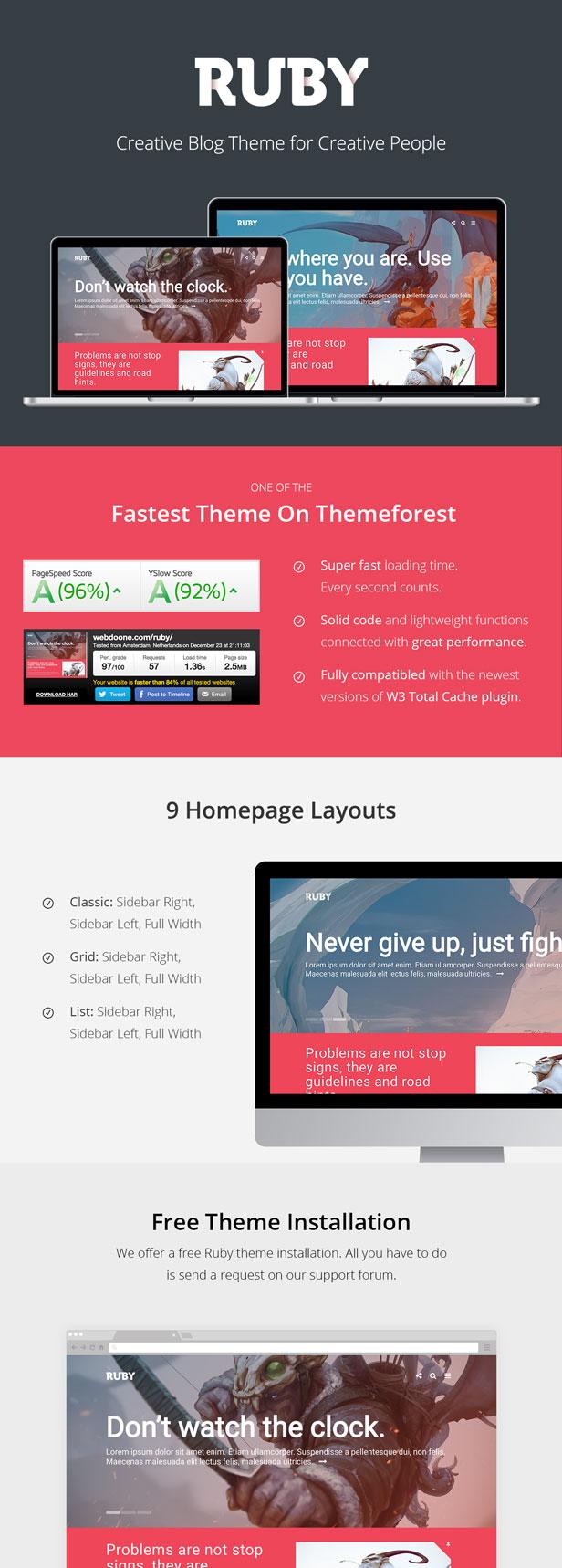 Ruby Theme - Ein kreatives WordPress-Blog-Theme - 2
