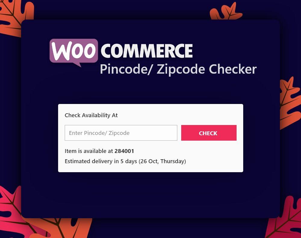 WooCommerce Pincode / Postleitzahl Checker - 2