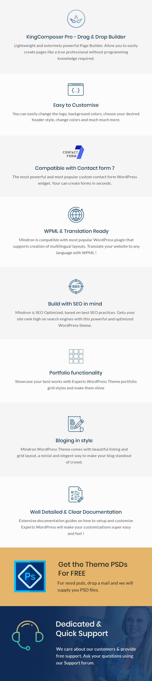 Mindron - Psychologie & Beratung WordPress Theme - 2