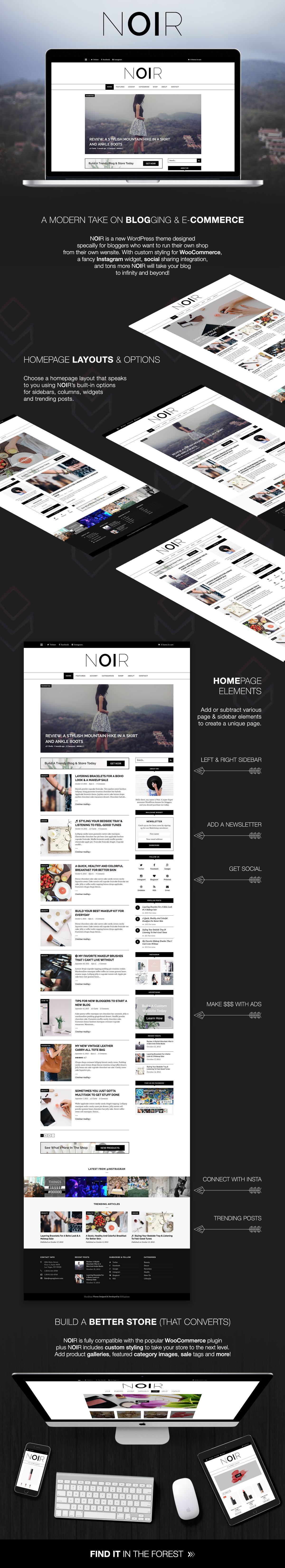 Noir WordPress Theme Funktionen