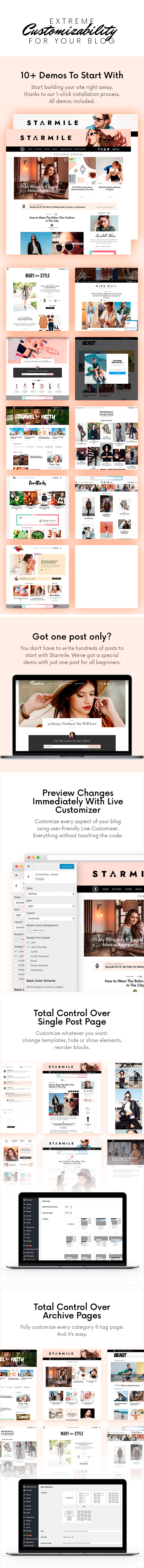 Starmile Blog Monetization WordPress Theme - Einfach anzupassen