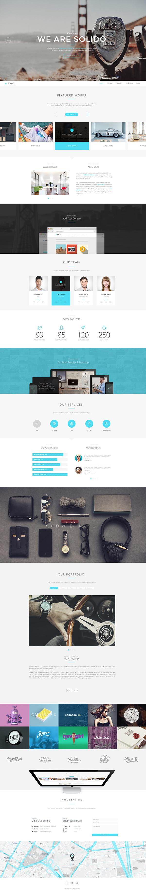 Solido - Responsive One Page Mehrzweckthema - 1
