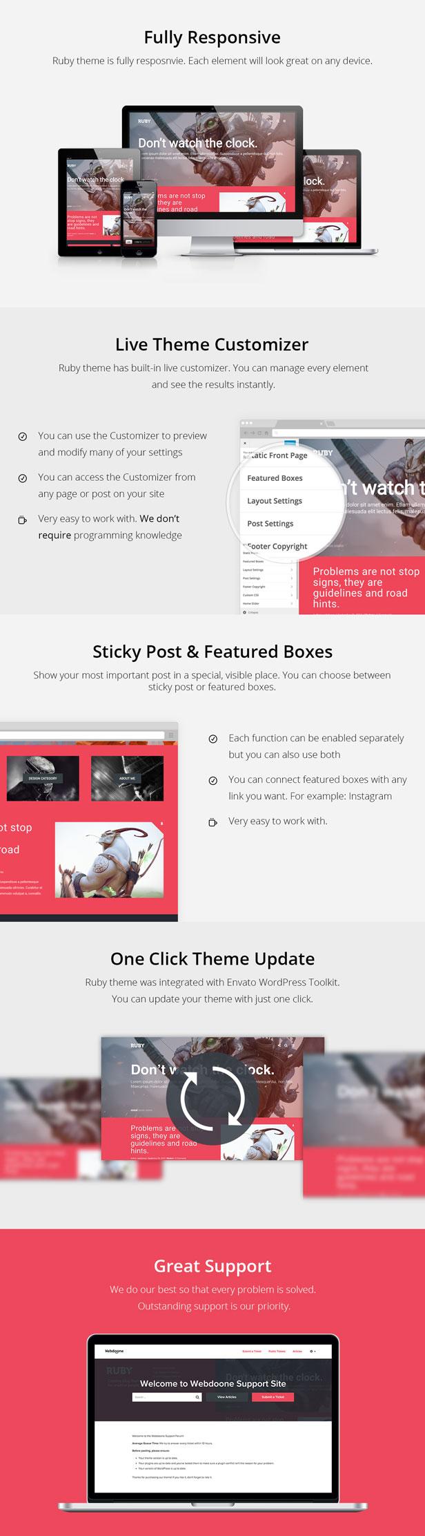 Ruby Theme - Ein kreatives WordPress-Blog-Theme - 3