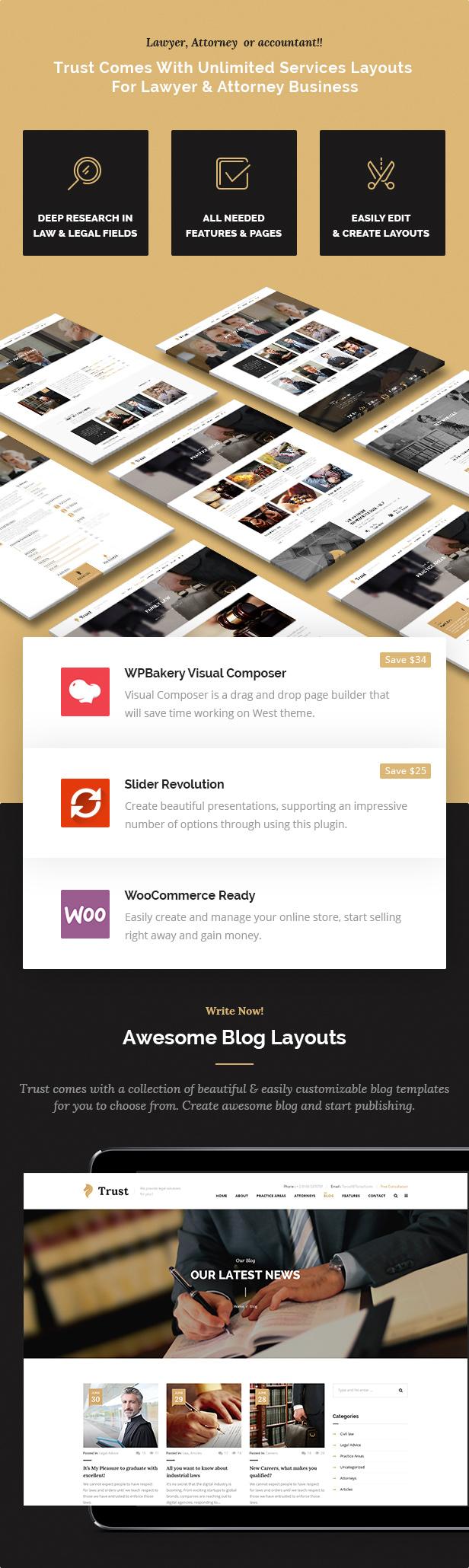 Trust Business - Anwalt und Anwalt WordPress Theme - 6