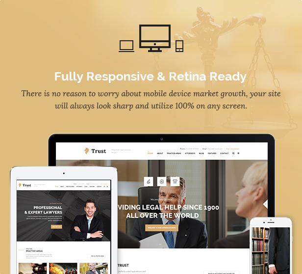 Trust Business - WordPress-Theme für Anwälte und Rechtsanwälte - 9