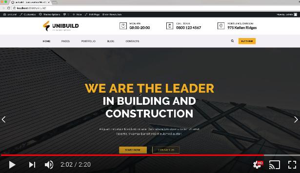 Fabrik, Industrie, Bau Gebäude WordPress Theme - Unibuild - 1