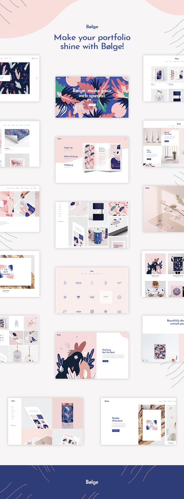 Bolge - Künstler & Designer Portfolio Thema - 1