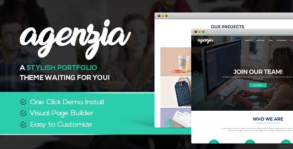 Wordpress Corporate Template Agenzia | Agency & Freelancer Portfolio WordPress Theme