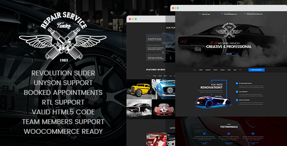 Wordpress Immobilien Template CarRepair - Auto Mechanic & Adjustment WordPress Theme