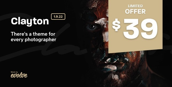 Wordpress Kreativ Template Clayton, an Elegant Theme for Photographers