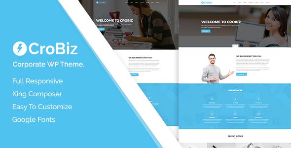 Wordpress Immobilien Template Crobiz - Corporate WordPress Theme