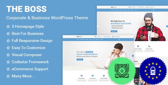 Wordpress Immobilien Template The Boss- Corporate & Business WordPress Theme