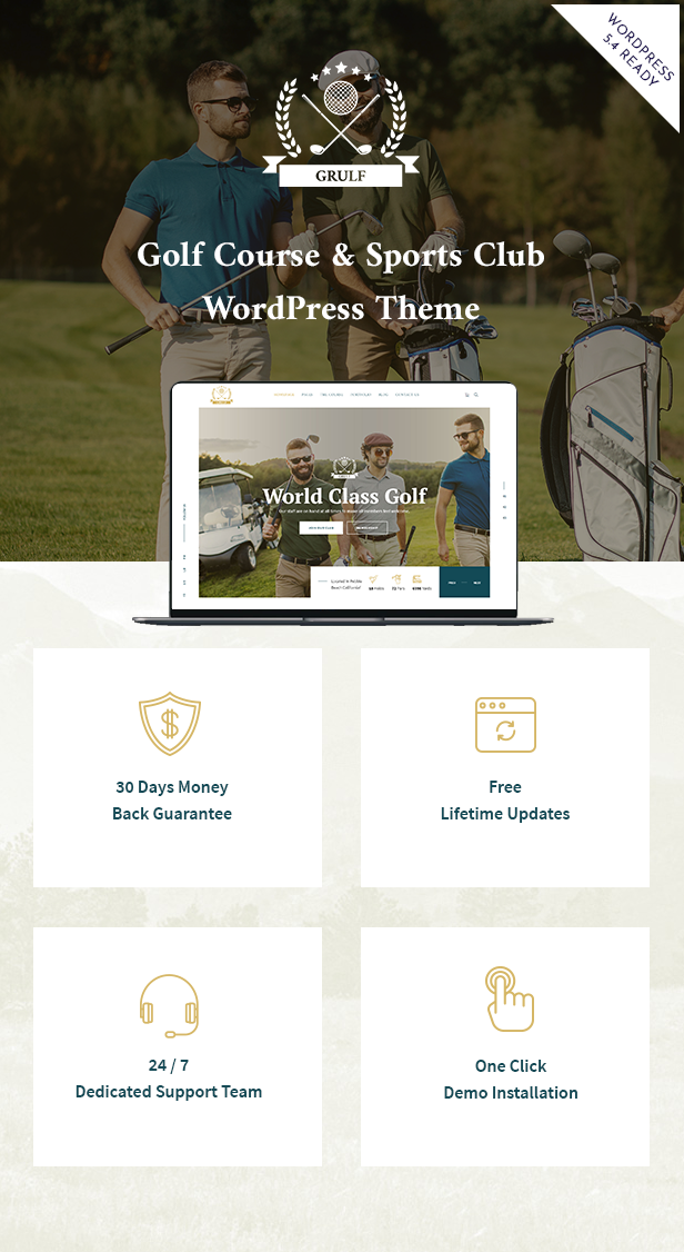 Wordpress Entertainment Template Grulf - Golf Club WordPress Theme