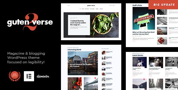 Wordpress Blog Template GutenVerse - Magazine and Blog Theme