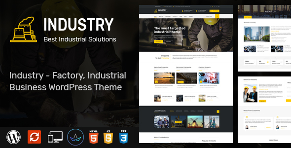 Wordpress Immobilien Template Industry - WordPress Theme for Factory and Industrial Business