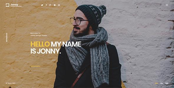 Wordpress Kreativ Template Jonny - Personal  WordPress Theme