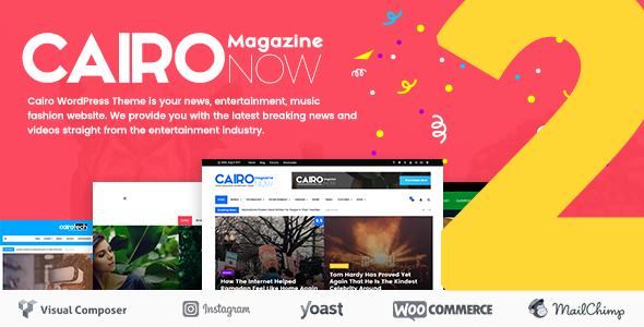Wordpress Blog Template Cairo - Newspaper & Magazine WordPress Theme