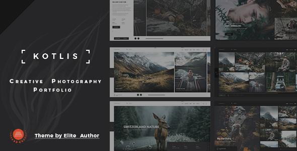 Wordpress Kreativ Template Kotlis -  Photography Portfolio WordPress Theme