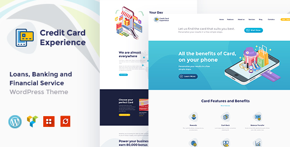 Wordpress Immobilien Template Credit Card Experience   Loan Company and Online Banking WordPress Theme