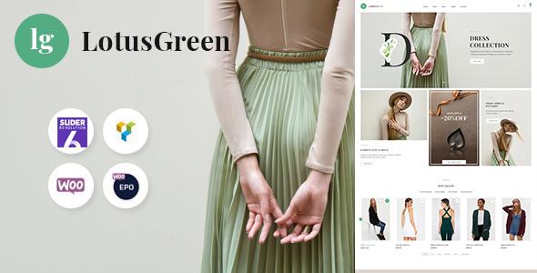 Wordpress Shop Template LotusGreen Fashion WooCommerce Theme