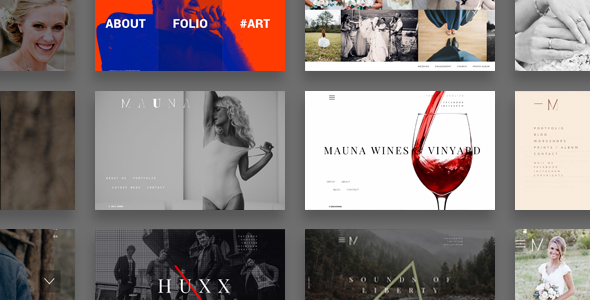 Wordpress Kreativ Template Mauna - full screen portfolio & agency theme