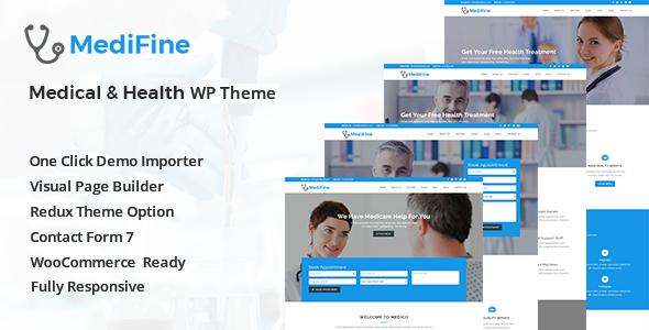 Wordpress Immobilien Template MediFine - Health and Medical WordPress Theme